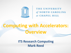 Computing with Accelerators
