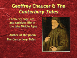 Chaucer and The Canterbury Tales Intro Presentation