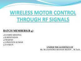 WIRELESS MOTOR CONTROL THROUGH RF