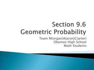 Section 9.6 Geometric Probability