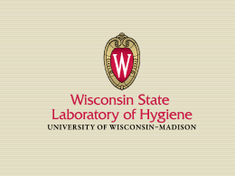 WSLH-PT-2014-BPE-Pre.. - Wisconsin State Laboratory of Hygiene