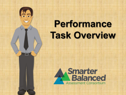 Performance Task Overview Module (non