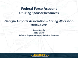 Federal Force Account - Georgia Airports Association
