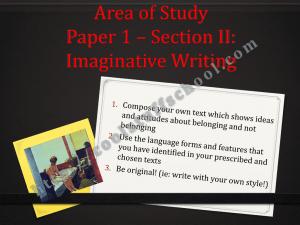 Area of Study Paper 1 * Section II