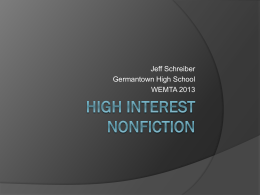 High Interest Nonfiction - Germantown School District