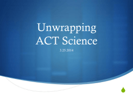 science act powerpoint