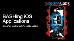 BASHing iOS Applications