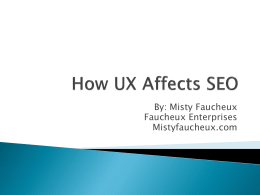 How UX Affects SEO