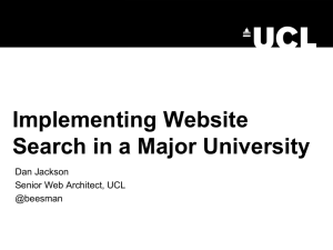 Implementing Website Search in a Major University