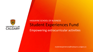 student experiences fund overview ppt