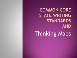 Thinking Maps and Common Core State Standards