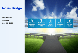 Nokia Bridge Organization