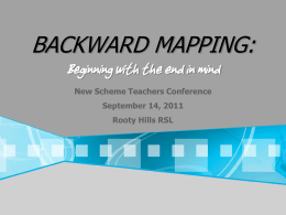 Backward Mapping Presentation New Scheme Conference