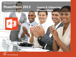 PowerPoint Lesson 6 Summary Slides