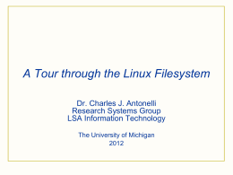 The UNIX Filesystem - University of Michigan
