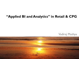 """Applied BI and Analytics"" in Retail & CPG"