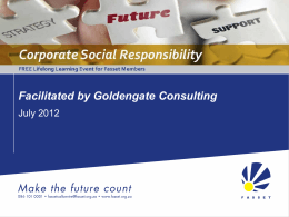 Corporate Social Responsibility Presentation