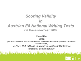 Scoring Validity in Austrian National Writing Tests