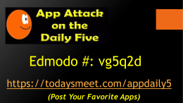 Daily 5 Apps