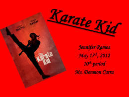 Karate Kid presentation
