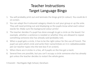 TL Bingo - Languages at Northgate High, Dereham