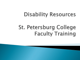 Disability Resouces - St. Petersburg College