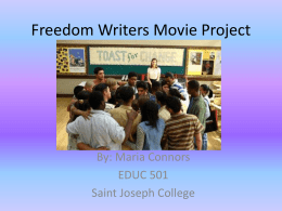 Freedom Writers Movie Project
