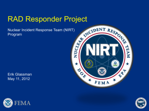 RAD Responder Project: Nuclear Incident