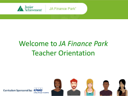 JA Finance Park Teacher Orientation