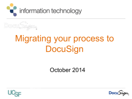 converting your process to DocuSign