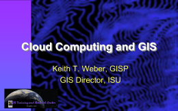 15-Cloud computing and GIS