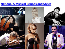 National 5 Musical Periods and Styles