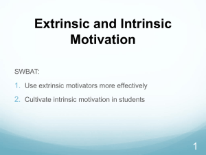 Intrinsic Motivation Powerpoint