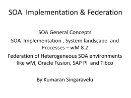SOA Components - Enterprise Architecture (SAP & EAI)