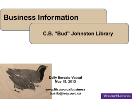 C.B. *Bud* Johnston Library Dolly Borsato