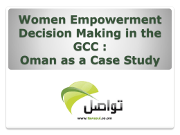 Women Empowerment in Decision Making in the A GCC
