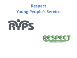 Lessons from Respect YP programme