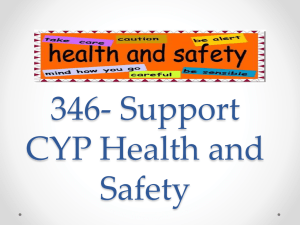 346- Support CYP Health and Safety