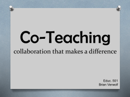CO-TEACHING PPT