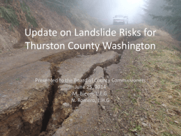 type 3 landslide - Thurston County