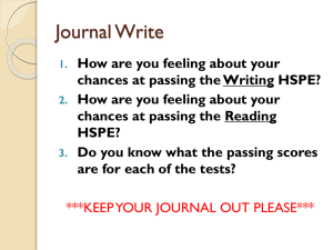How are you feeling about your chances at passing the Writing HSPE?