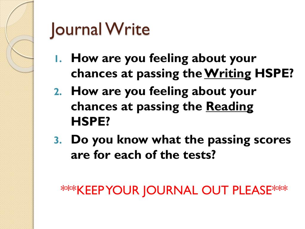 persuasive essay hspe
