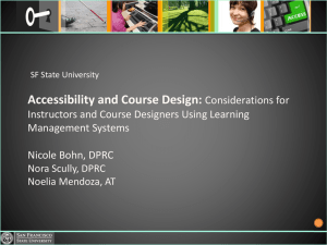 Accessibility & Course Design for Instructors