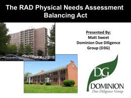 RAD Capital Needs Assessment Presentation