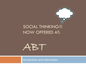 Social Thinking is Coming to ABT