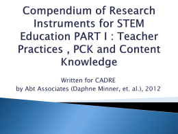 Feb 1 - Teacher research instruments DRK12