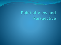 the point of view of a story