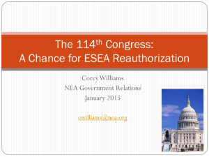 ESEA in the 114th Congress - Iowa State Education Association