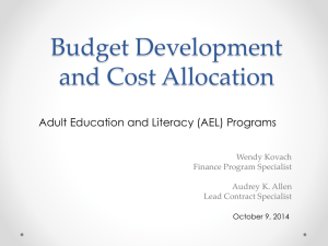 Budget Development PPT 10 9 2014 Audrey