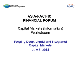 Michael Taylor - Forging Deep, Liquid, and Capital Markets